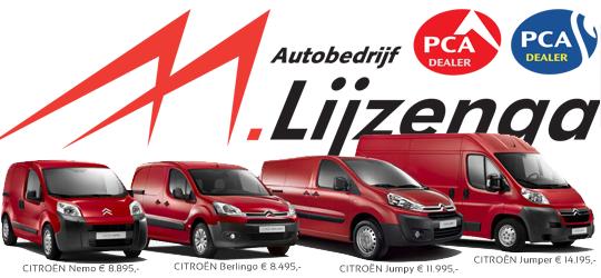 25% korting op bedrijfswagens bij autobedrijf Lijzenga